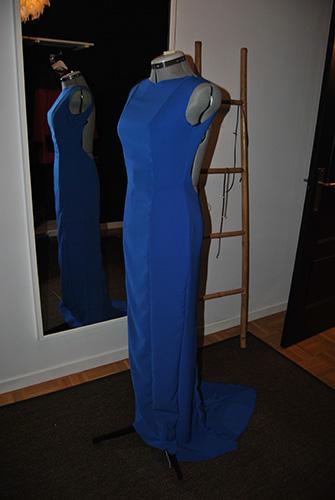Primera prueba del Vestido a medida realizado en el Atelier a Medida de Oviedo