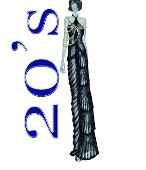 Vestido exclusivo de fiesta de los años 20 , diseño exclusivo alex RoandMe